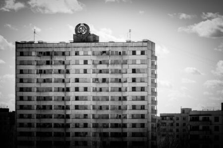 chernobyl: Abandoned residental architecture in Pripyat, 2012