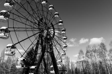 The Ferris Wheel in Pripyat, Chernobyl 2012 March Stock Photo