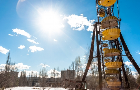 The Ferris Wheel in Pripyat, Chernobyl 2012 March Stock Photo - 13611092
