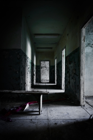 Abandoned corridor in pripyat school 2012 Stock Photo - 13610634