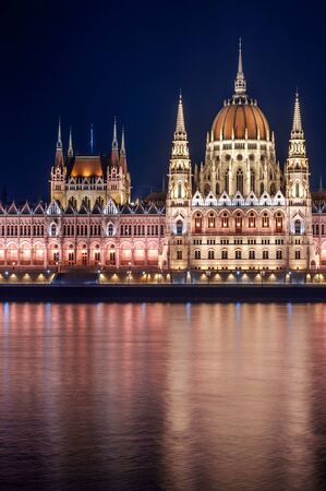 Photo of the hungarian parlament at night Stock Photo - 13610769