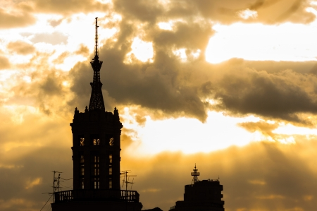 Cathedral at dawn silhouette Stock Photo - 13610588