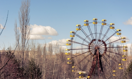 The Ferris Wheel in Pripyat, Chernobyl 2012 March photo