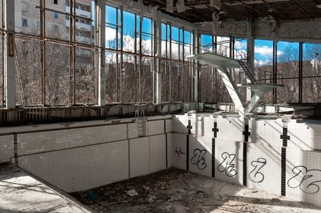 Empty swimming pool in Chernobyl Stock Photo - 13602196