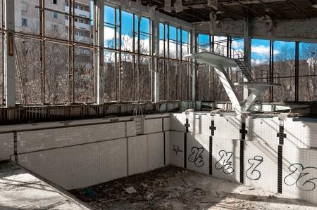 Empty swimming pool in Chernobyl Stock Photo - 13602196