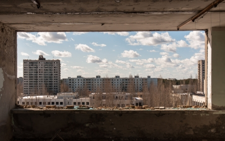 The ghost city of pripyat, Chernobyl Stock Photo - 14296302