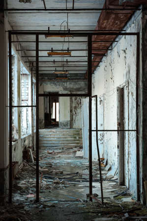 Abandoned hallway in Chernobyl Stock Photo - 14296314