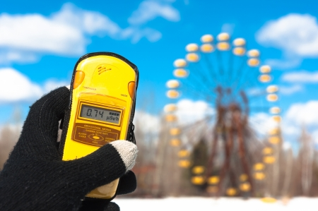 Geiger counter in chernobyl, amusement park photo