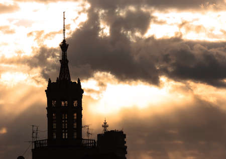Cathedral at dawn silhouette Stock Photo - 14301659