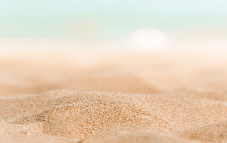 Closeup of some sand on the shore Stock Photo