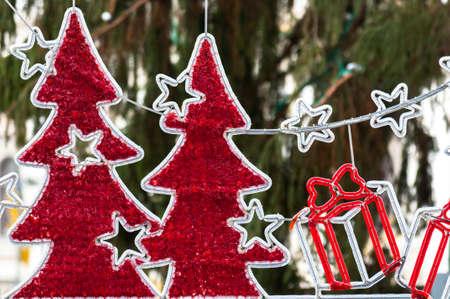 Beautiful christmas decoration closeup photo
