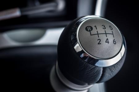 Close-up foto van de auto-interieurs in helder licht Stockfoto