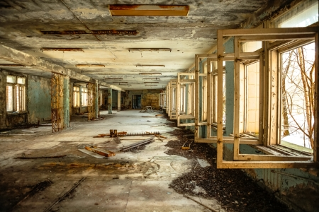 Abandoned Corridor in Chernobyl march 2012 photo
