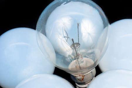 White lightbulb closeup  photo photo