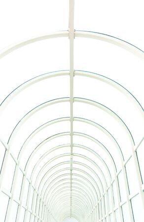 Hallway with brigh light angle shot