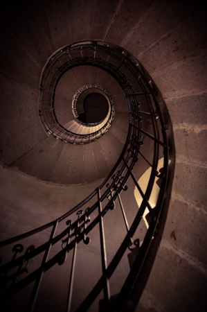spiral staircase: Round stairs in a church angle shot