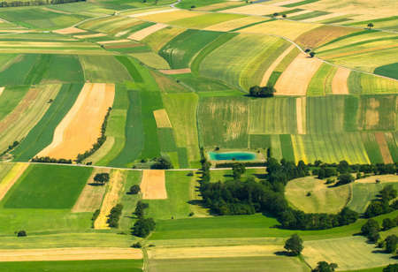 Large Agricultural field aerial view photo