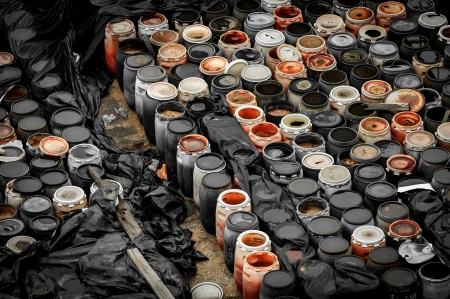 Photo of a Chemical waste dump with a lot of barrels Stock Photo - 17022238