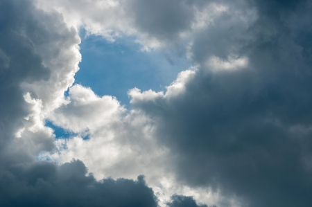 Dramatic sky with clouds at autumn Stock Photo - 17021679