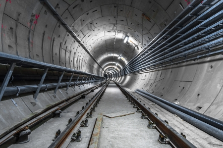Underground facility with a big tunnel leading deep down Stock Photo - 17684576