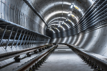 Underground facility with a big tunnel leading deep down Stock Photo - 17683950