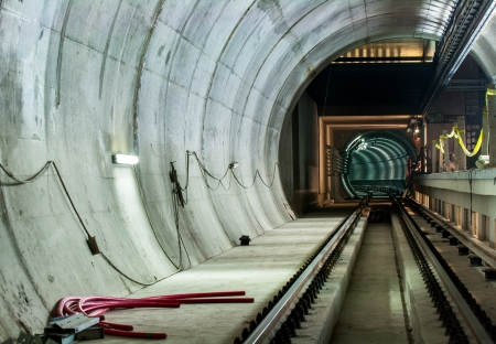 Underground facility with a big tunnel leading deep down Stock Photo - 17683547