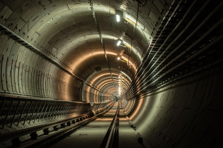 Underground facility with a big tunnel leading deep down Stock Photo - 17684024