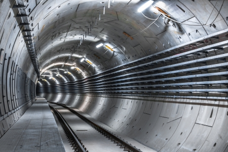 Underground facility with a big tunnel leading deep down Stock Photo - 17683458