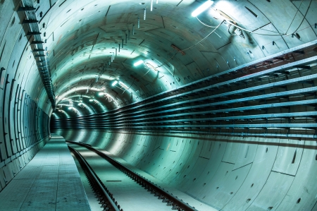Underground facility with a big tunnel leading deep down Stock Photo - 17684028