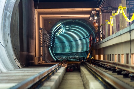 Underground facility with a big tunnel leading deep down Stock Photo - 17683588