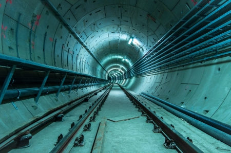 Underground facility with a big tunnel leading deep down Stock Photo - 17684008