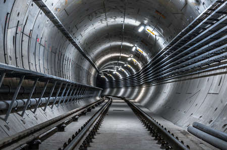 Underground facility with a big tunnel leading deep down Stock Photo - 18044394