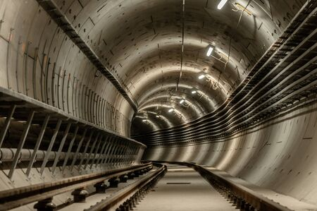 Underground facility with a big tunnel leading deep down Stock Photo - 18044233