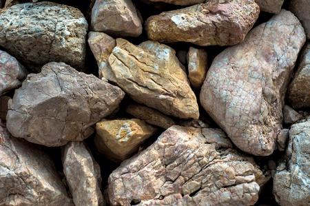 Foto de primer plano de textura de roca afilada
