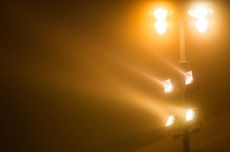 reflectors: Industrial reflectors outdoors at night