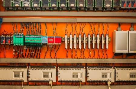 industrial fuse box on the wall closeup photo stock photo picture rh 123rf com