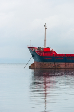 Big Industrial cargo ship on the water Stock Photo - 19006064