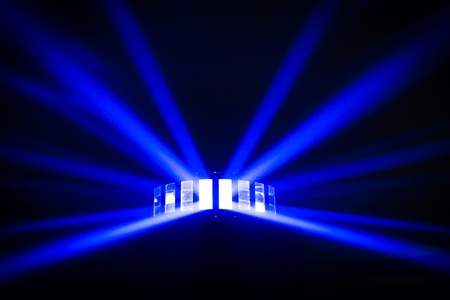 Bright disco lights and lasers in the dark