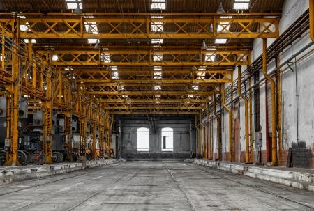 Industriële interieur van een reparatie-station Stockfoto