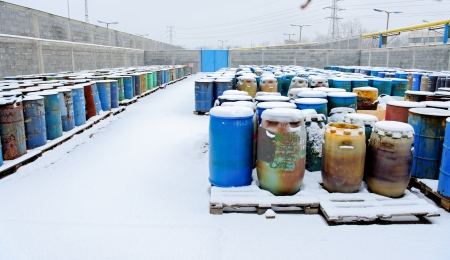 Photo of a Chemical waste dump with a lot of barrels Stock Photo - 22468762