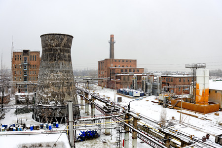Urban Landscape with industrial architecture photo