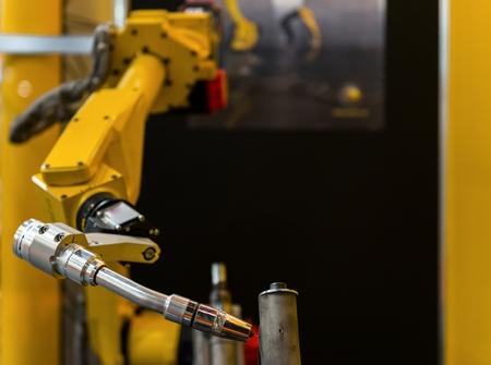 welding machine: Welder machine in a factory closeup Stock Photo