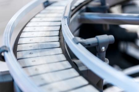 cinta transportadora: Peque�o cinta transportadora foto de primer plano