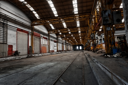 Industrial interior of a vehicle repair station photo