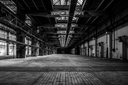 Intérieur industrielle d'une ancienne usine Banque d'images - 22469781