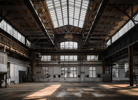 Intérieur industrielle d'une ancienne usine