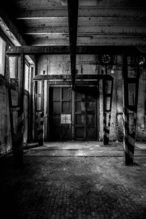Large industrial door in a factory photo