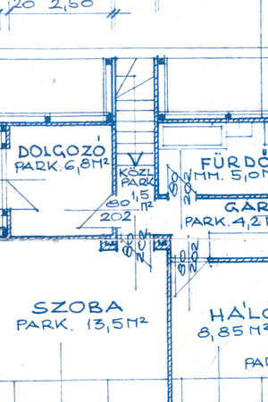 interior desing: The part of an architectural project closeup