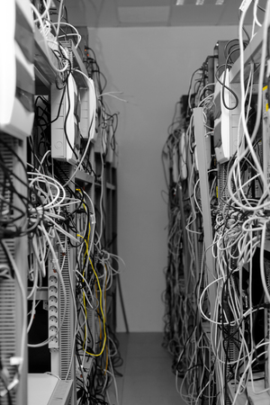 warez: Modern computer cases in a data center