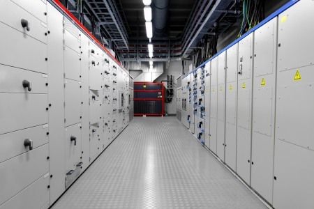 Control room of a thermal power plant